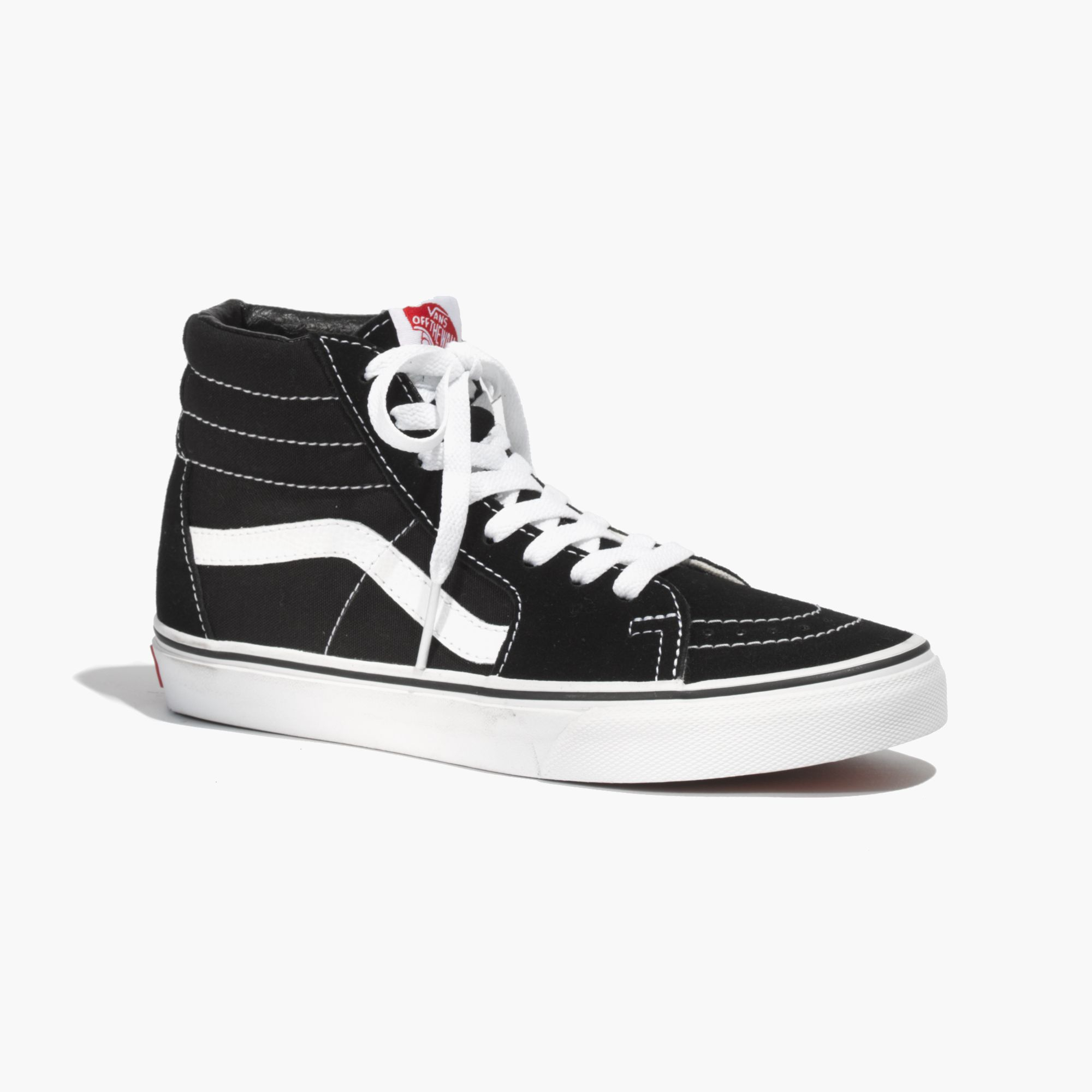 madewell vans classic sk8 hi high tops in canvas in black lyst. Black Bedroom Furniture Sets. Home Design Ideas