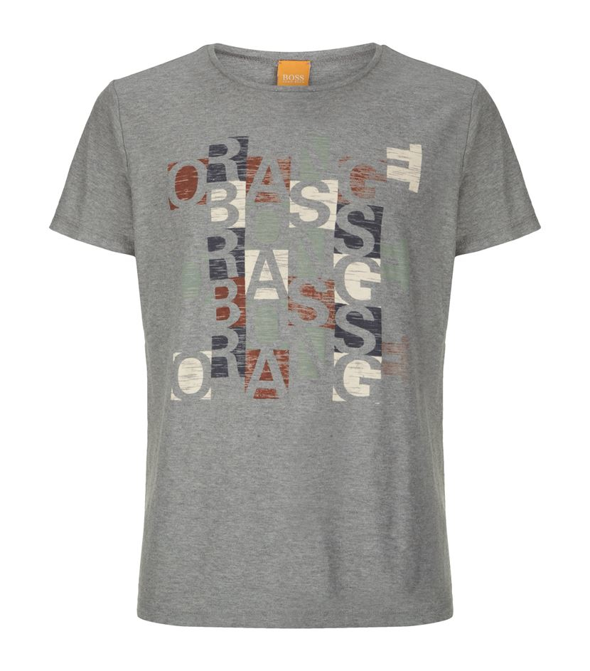 boss orange talentino 1 logo t shirt in gray for men lyst. Black Bedroom Furniture Sets. Home Design Ideas