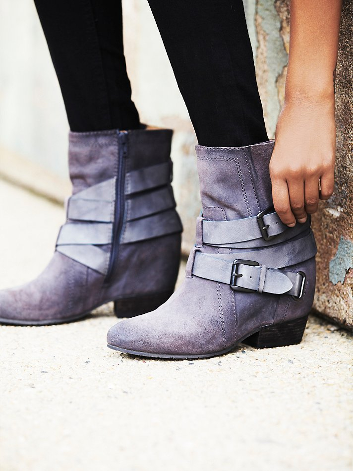 Free people Harlin Hidden Wedge Boot in Gray | Lyst
