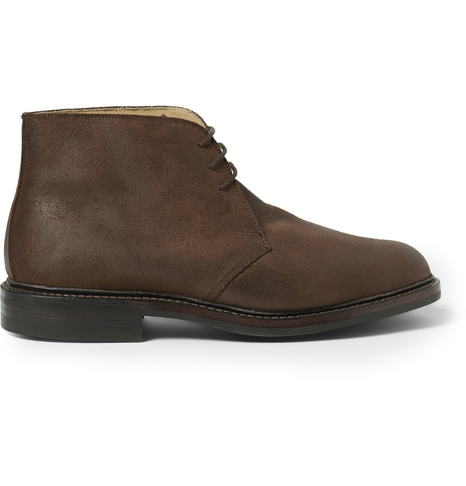 george cleverley nathan suede chukka boots in brown for