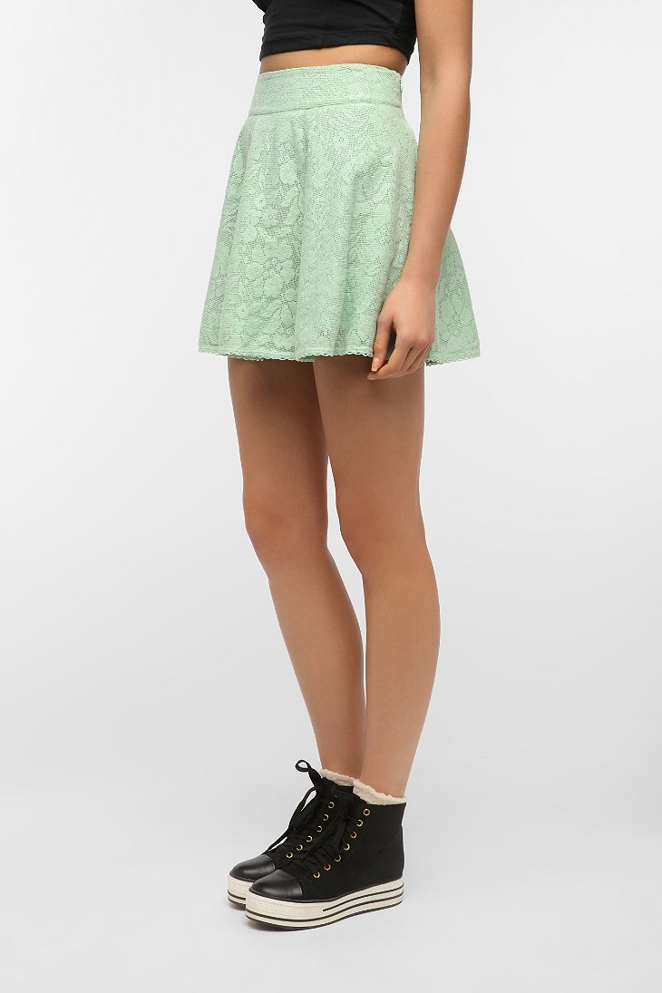 kimchi blue lace circle skirt in green lyst