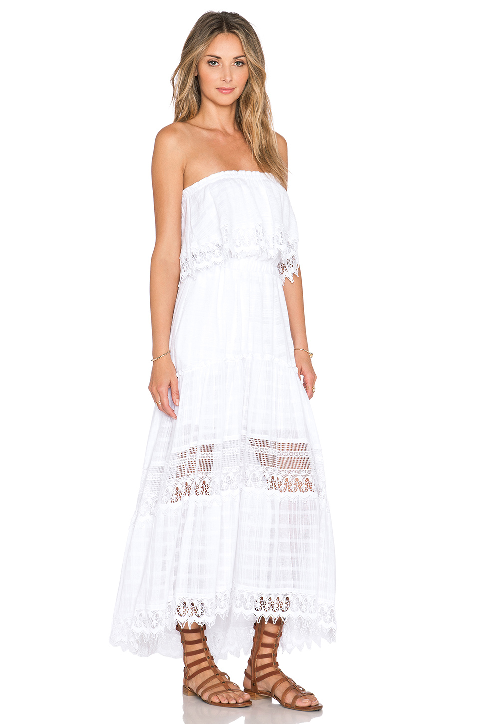 Gypsy 05 Strapless Maxi Dress in White | Lyst