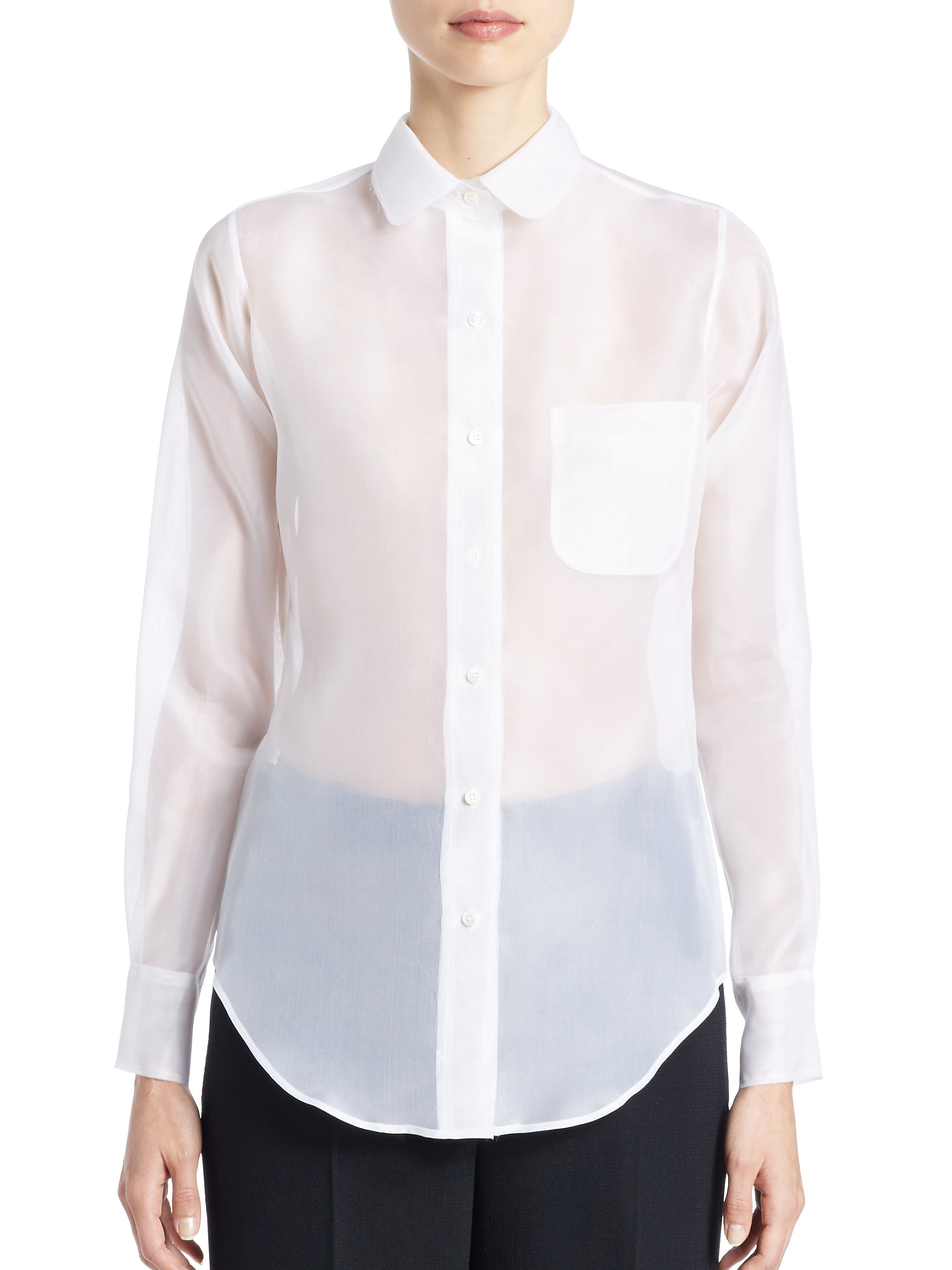 5b9644a51644 Gallery. Previously sold at  Saks Fifth Avenue · Women s Ruffle Shirts  Women s White ...