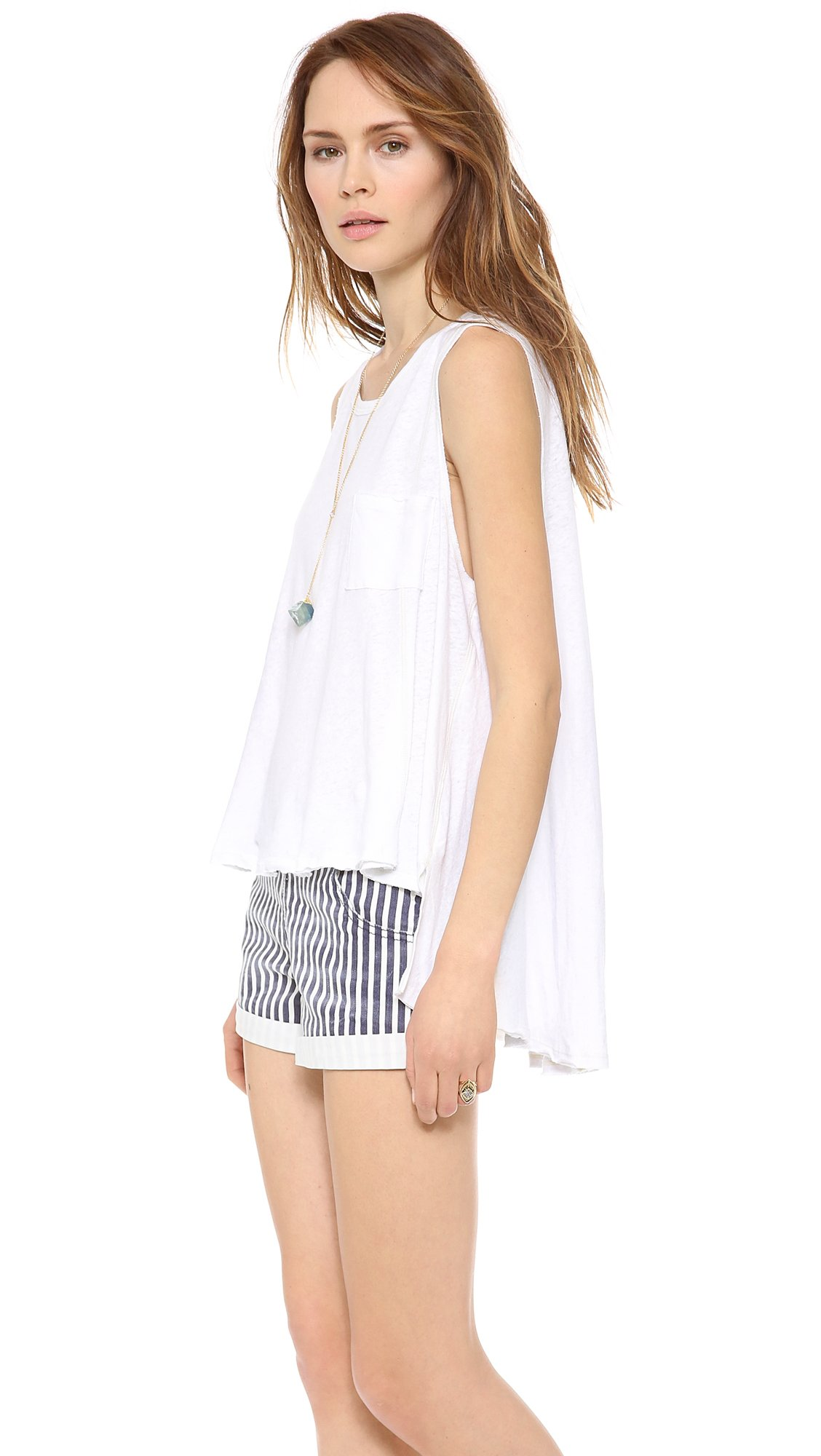Lyst - Free People Beach House Tank Top in White