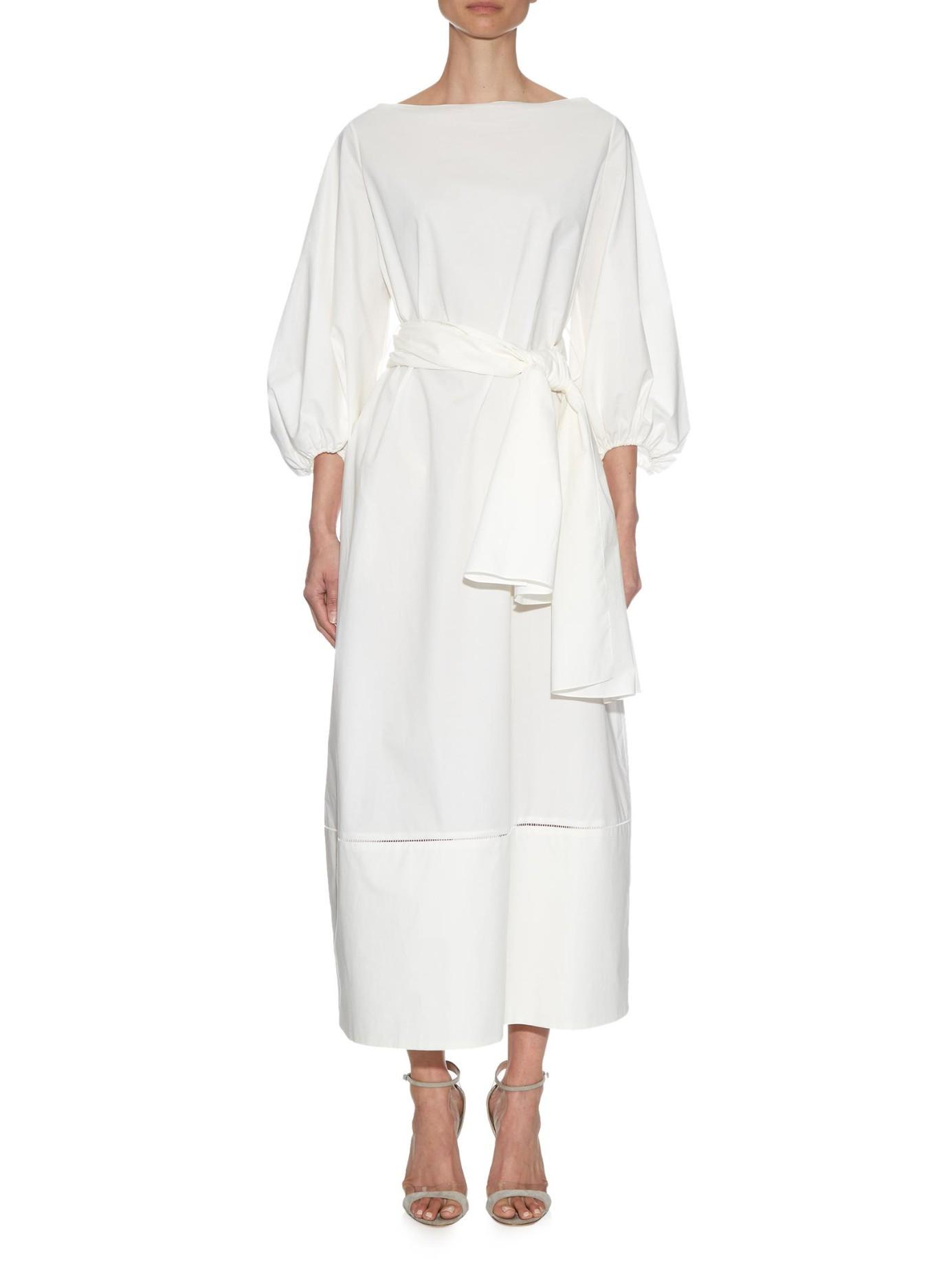 Cotton maxi dress The Row Discount Best Prices Buy Cheap Best Wholesale Sale Websites N3EwbDVZ