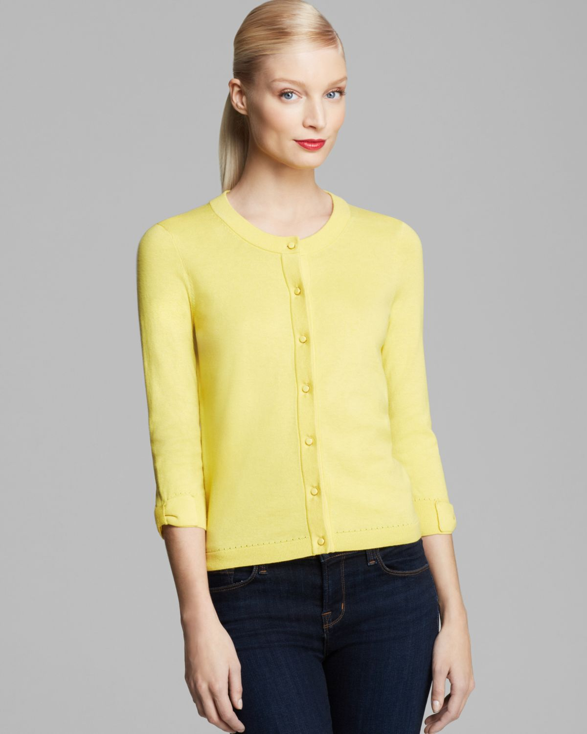Kate spade new york Somerset Cardigan in Yellow | Lyst