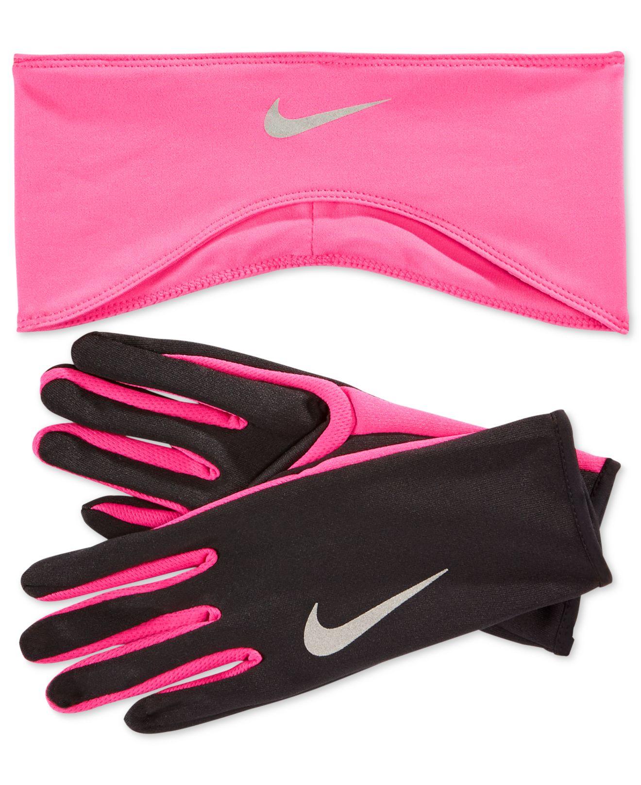 Lyst - Nike Dri-fit Headband   Running Gloves Set in Black 337fd4b3cd5