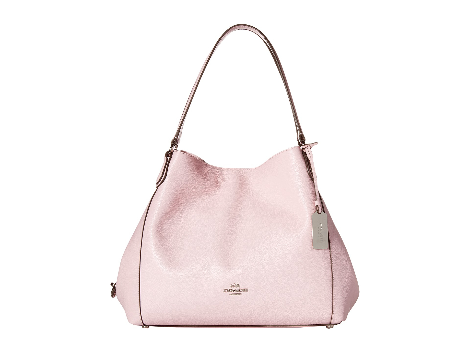 5e1156bb19 Lyst - COACH Refined Pebble Leather Edie 31 Shoulder Bag in Pink