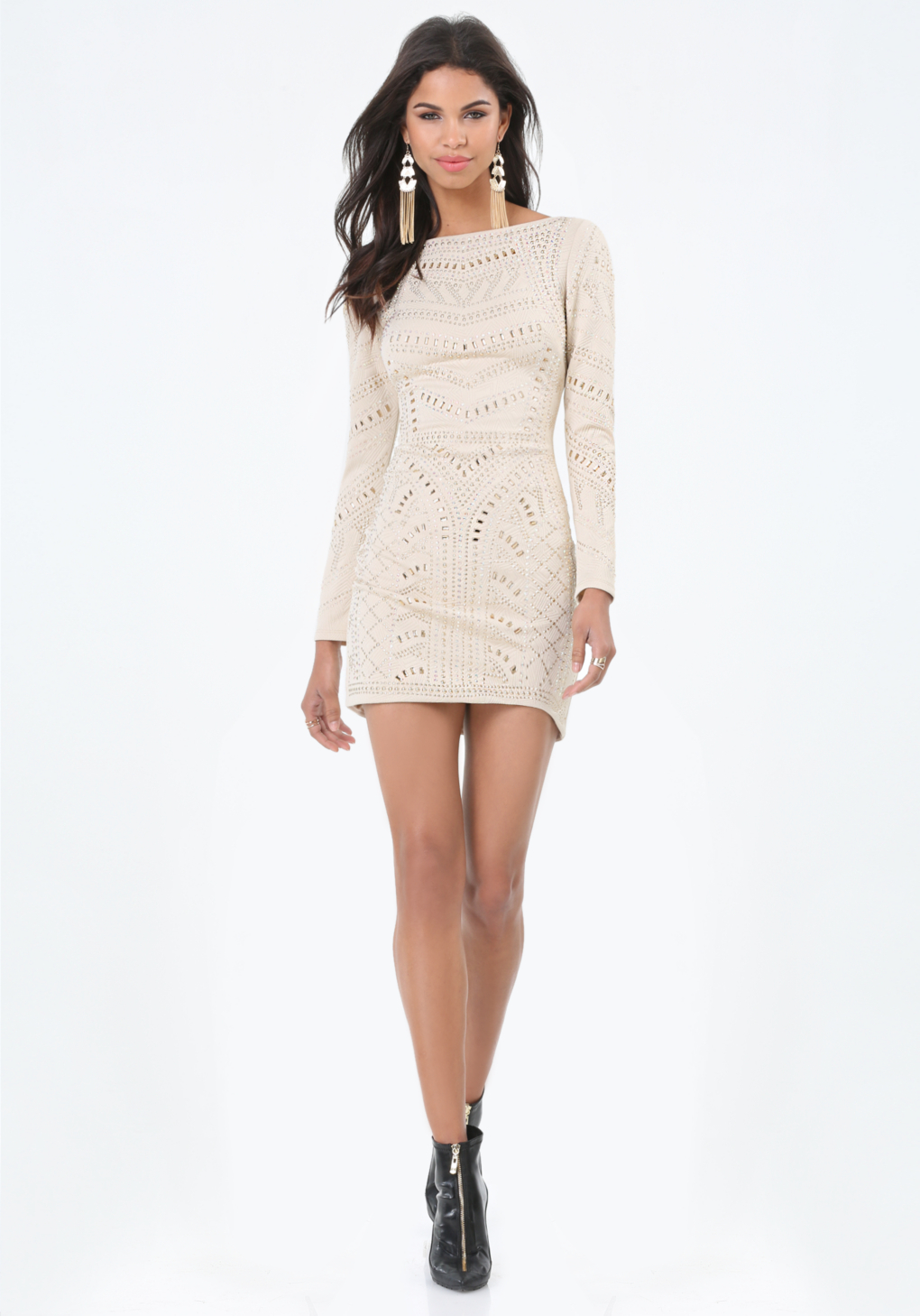 Bebe embellished quilted dress in white lyst gallery ombrellifo Images
