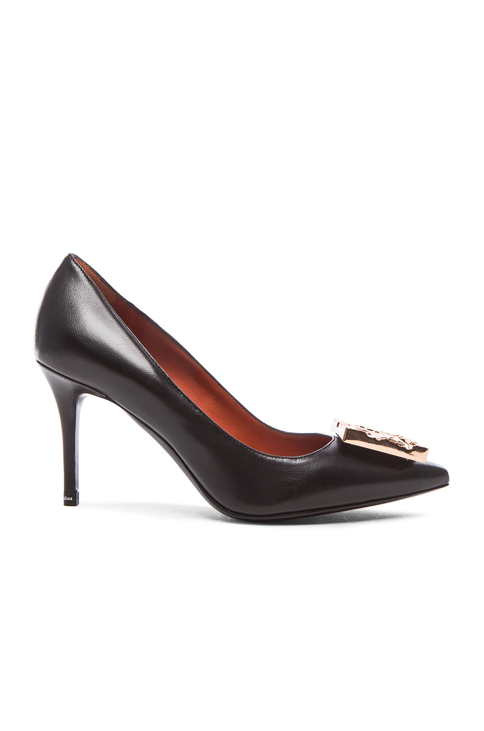 Acne Studios Andrea Leather Heels In Black Lyst