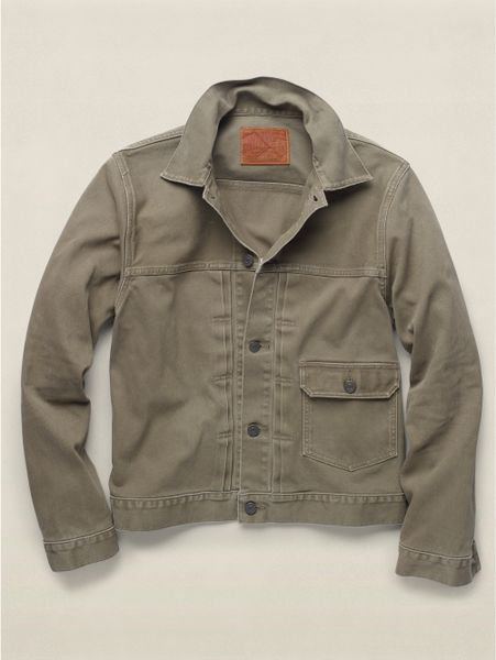 Rrl Cotton First Edition Jacket In Green For Men Sage Lyst