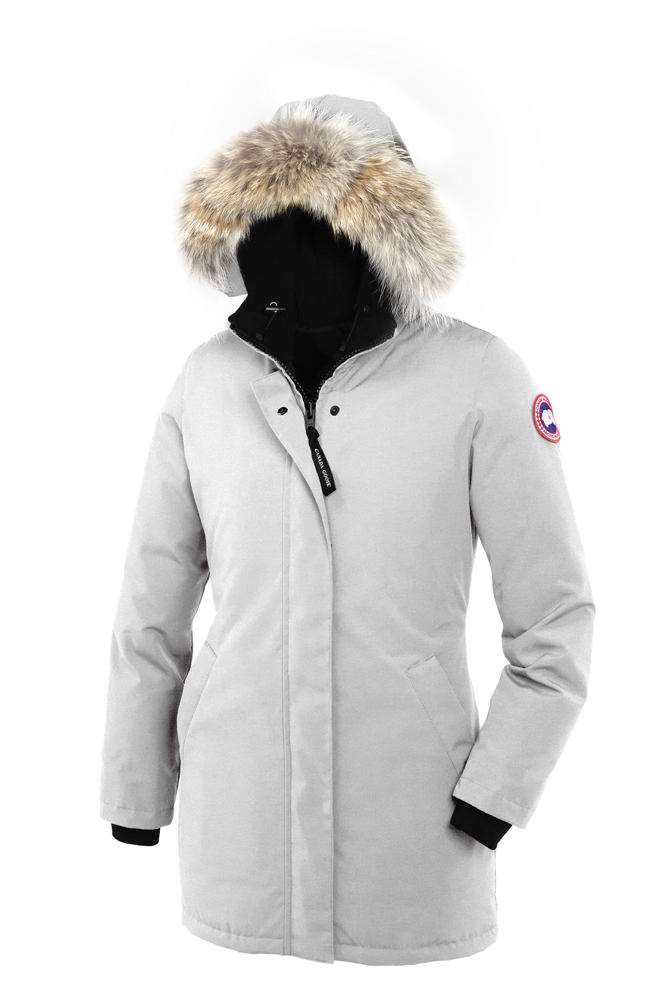 canada goose victoria fur trrimmed down padded parka. Black Bedroom Furniture Sets. Home Design Ideas
