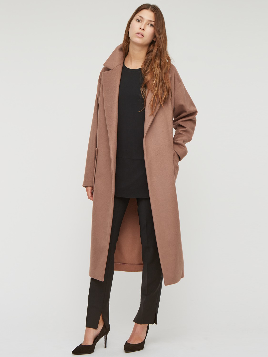 Jigsaw Luxury Wrap Coat in Pink | Lyst