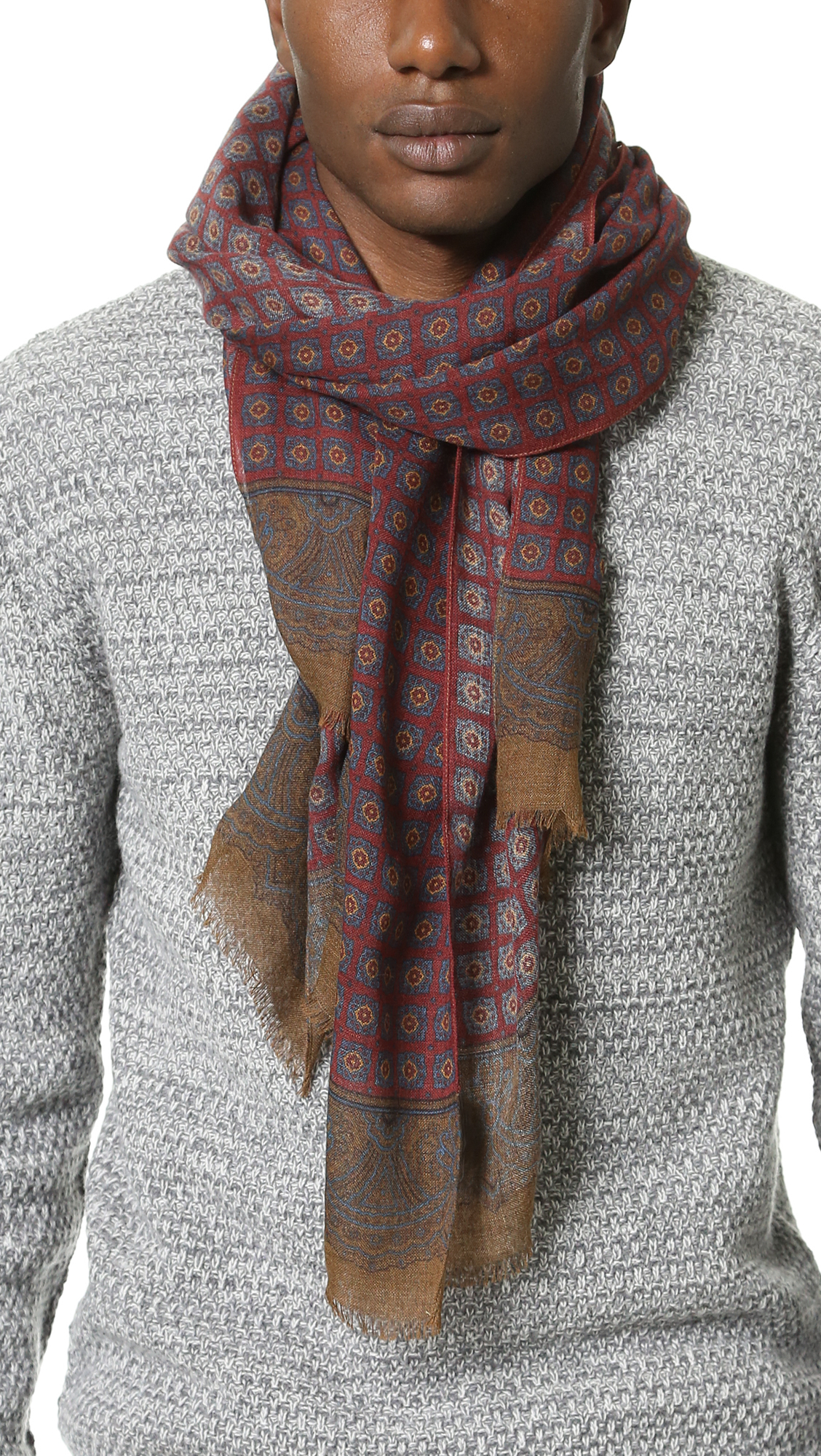 s medallion print scarf in for lyst