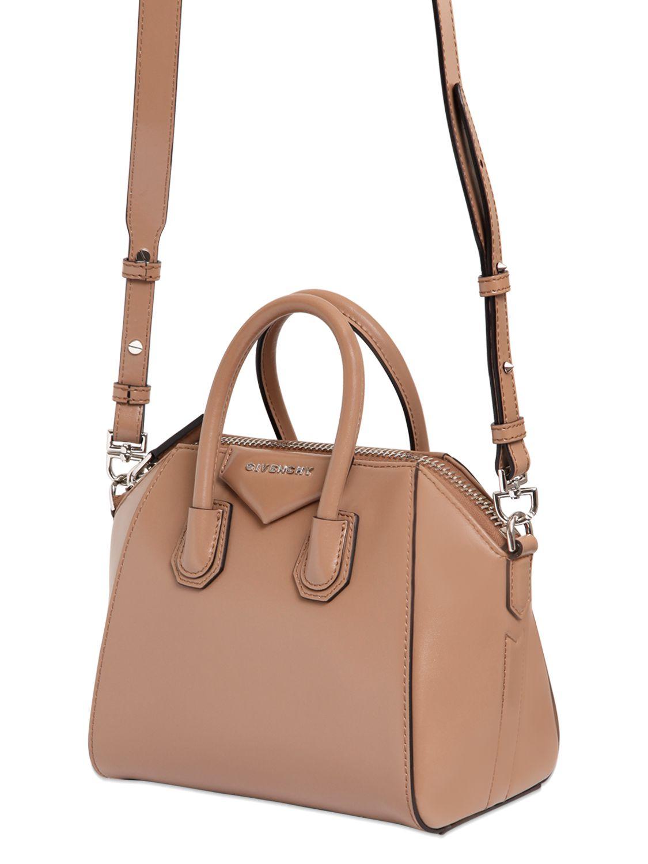 Beige Mini Antigona Bag Givenchy Bta3My