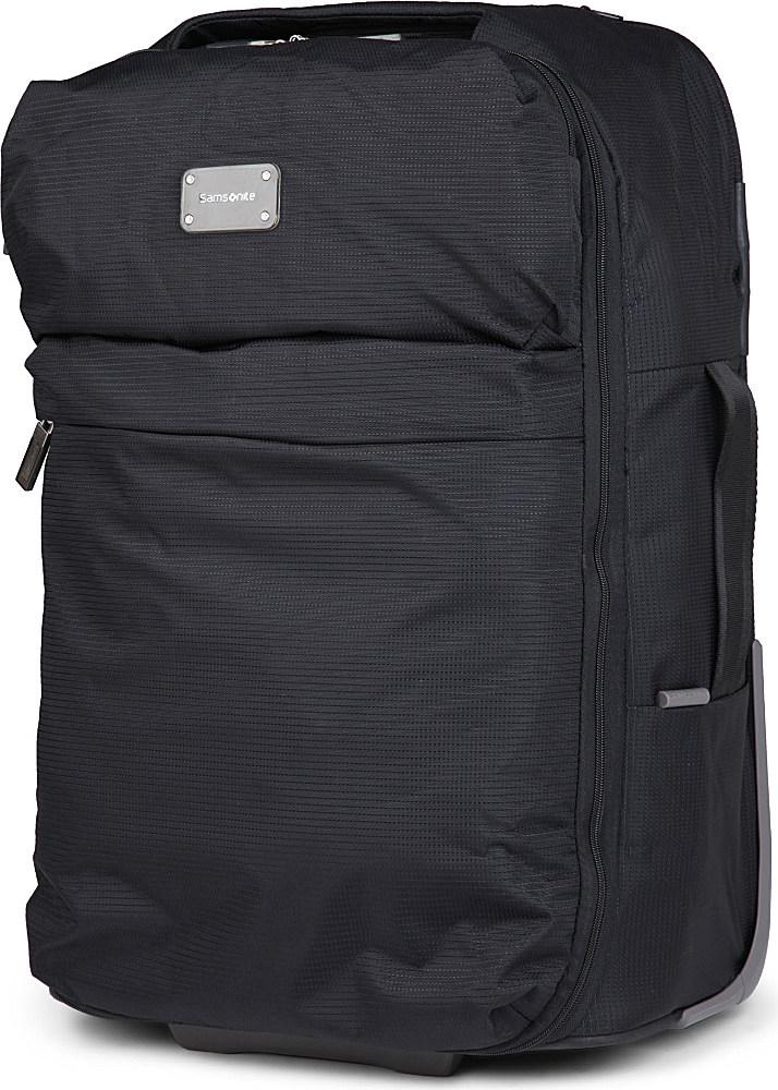 Samsonite foldaway cabin bag in black lyst for Samsonite cabin luggage