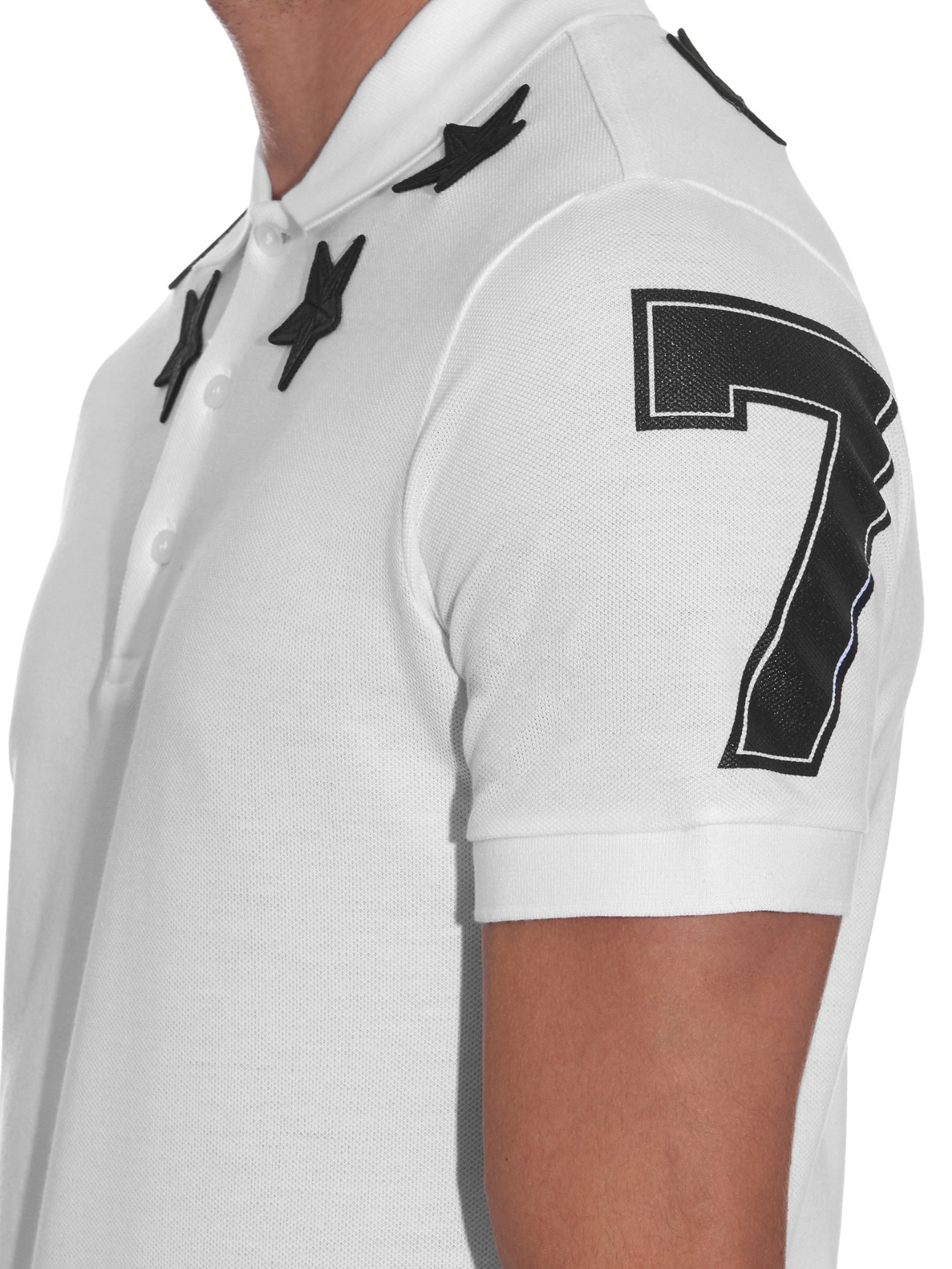 bbf1d548 Givenchy Cuban-fit Star-patch Polo Shirt in White for Men - Lyst