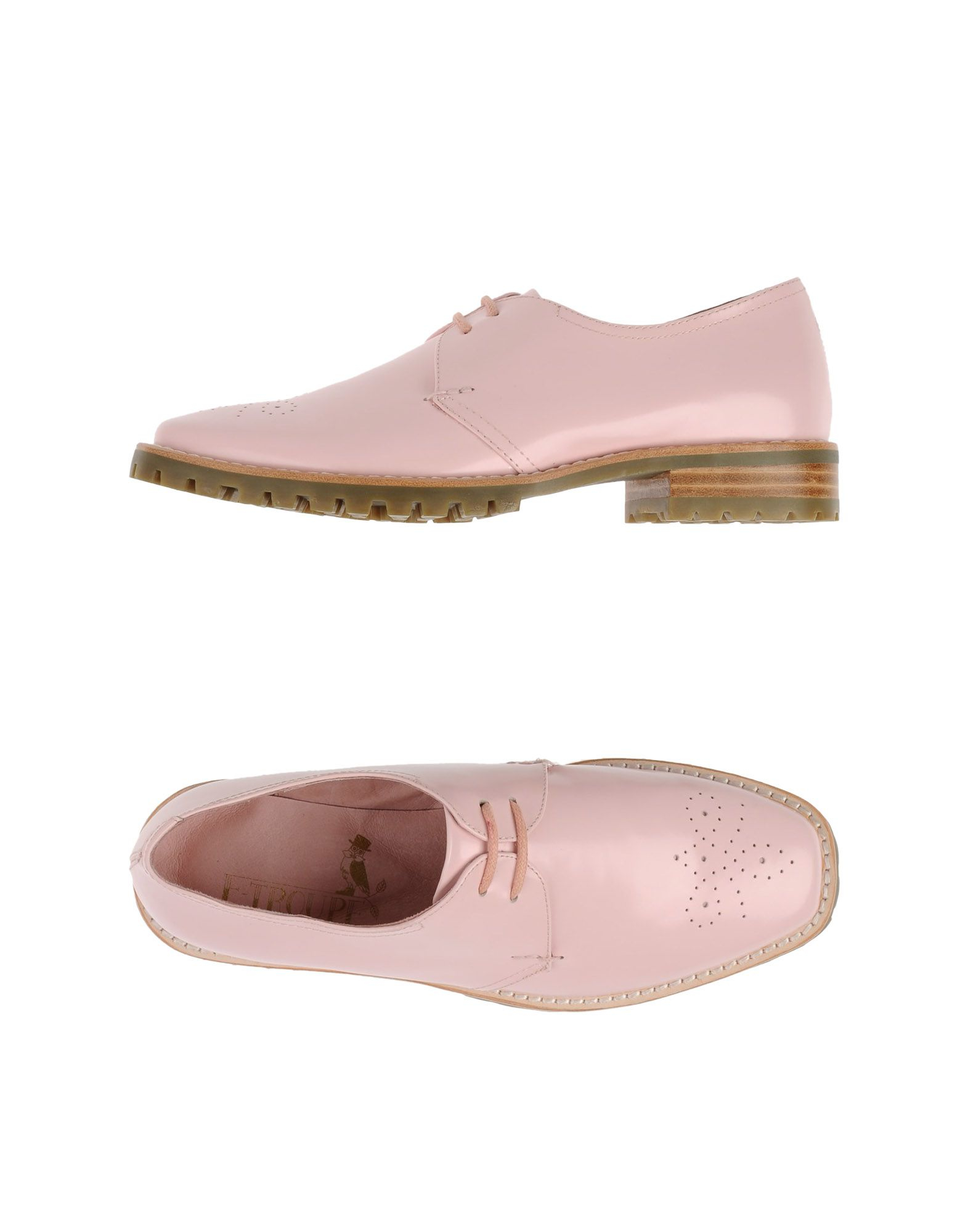 f troupe lace up shoes in pink lyst