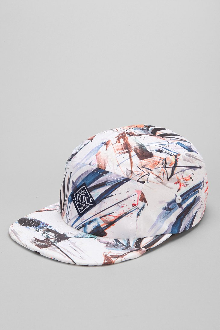 Lyst Staple X Dave White 5panel Hat In White For Men