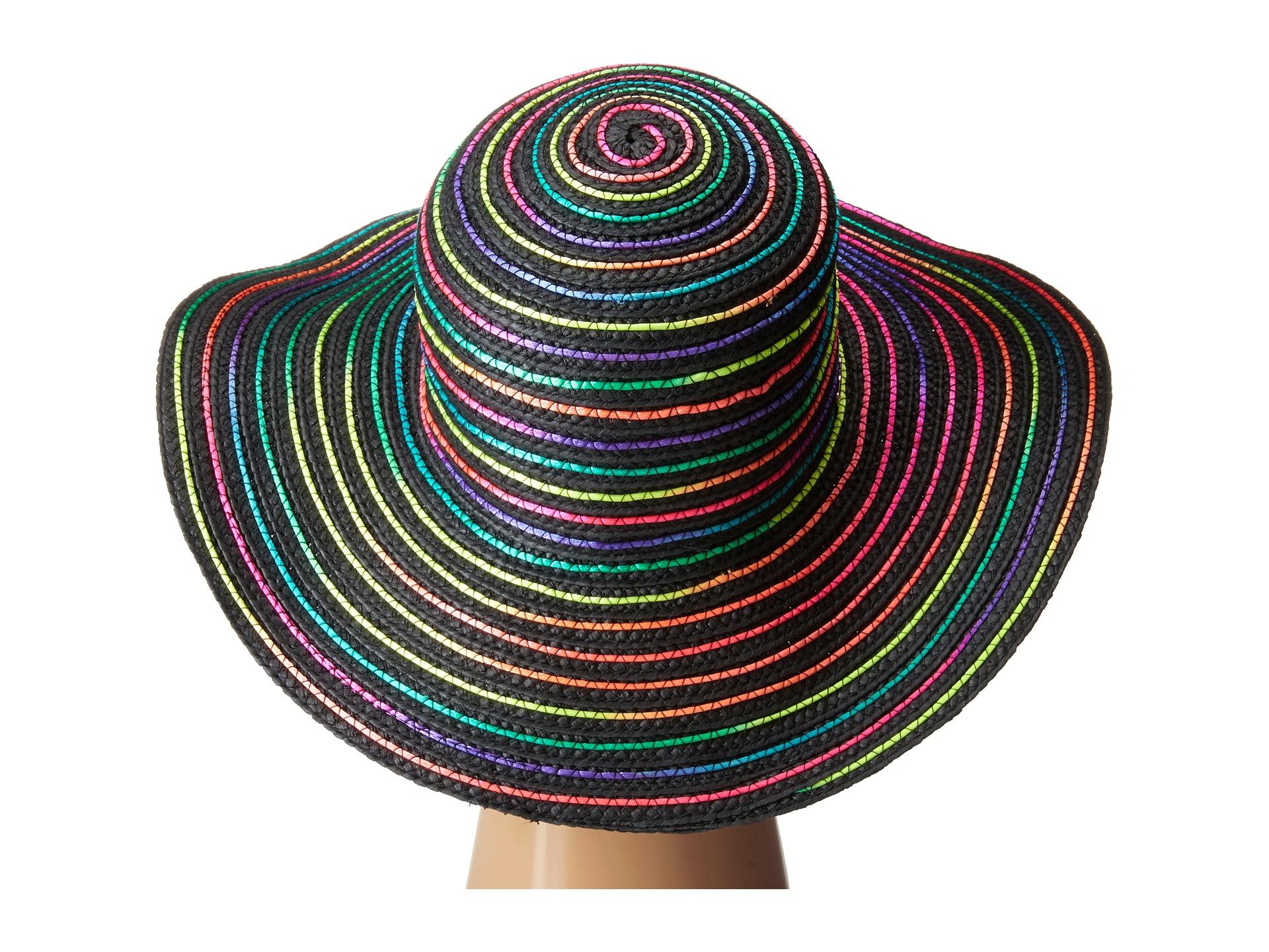 5f55292db9 Betsey Johnson Rainbow Swirl Floppy Hat in Gray - Lyst