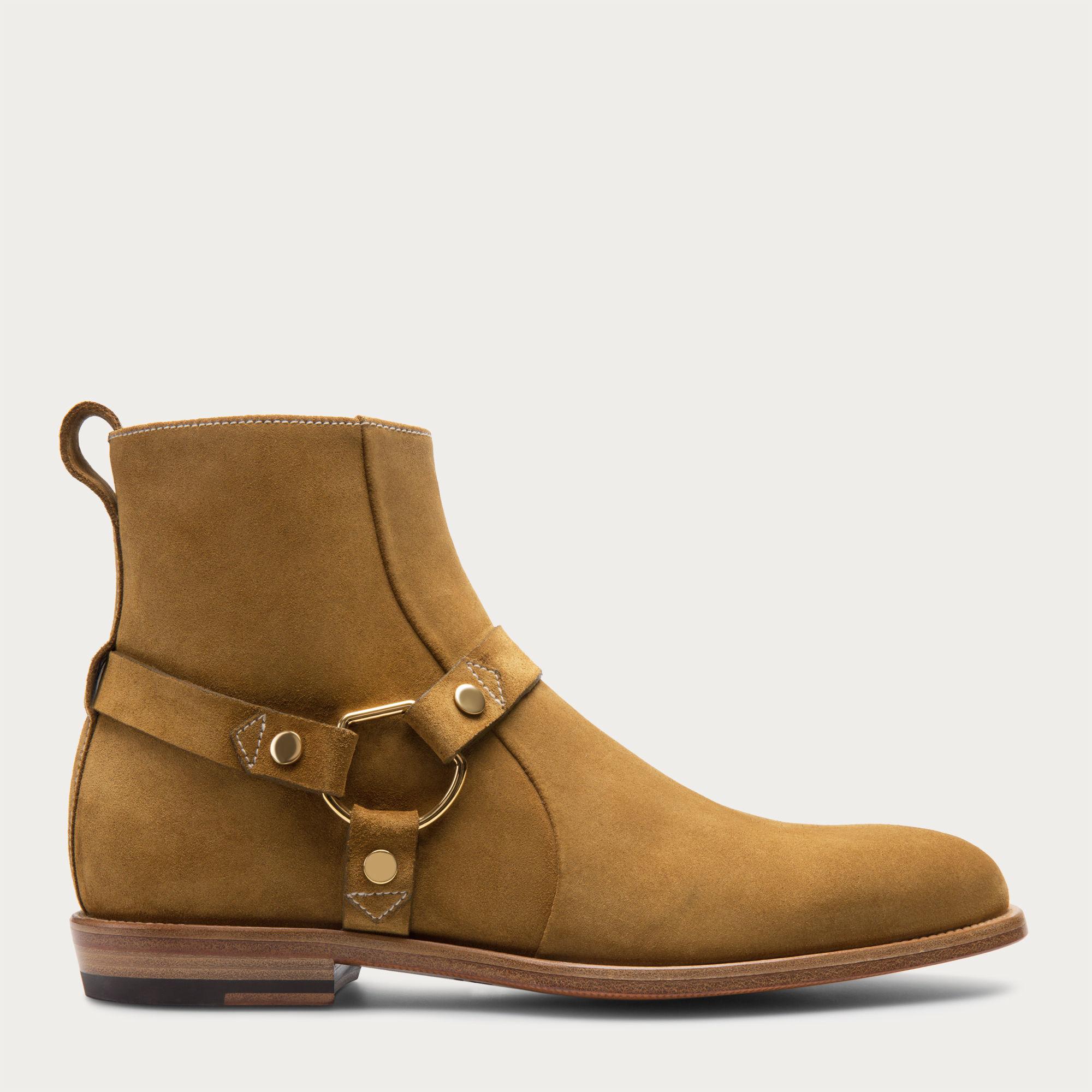 be5fe20c2d0ed Lyst - Bally Hofman Men s Suede Boot In Dark Peanut in Natural