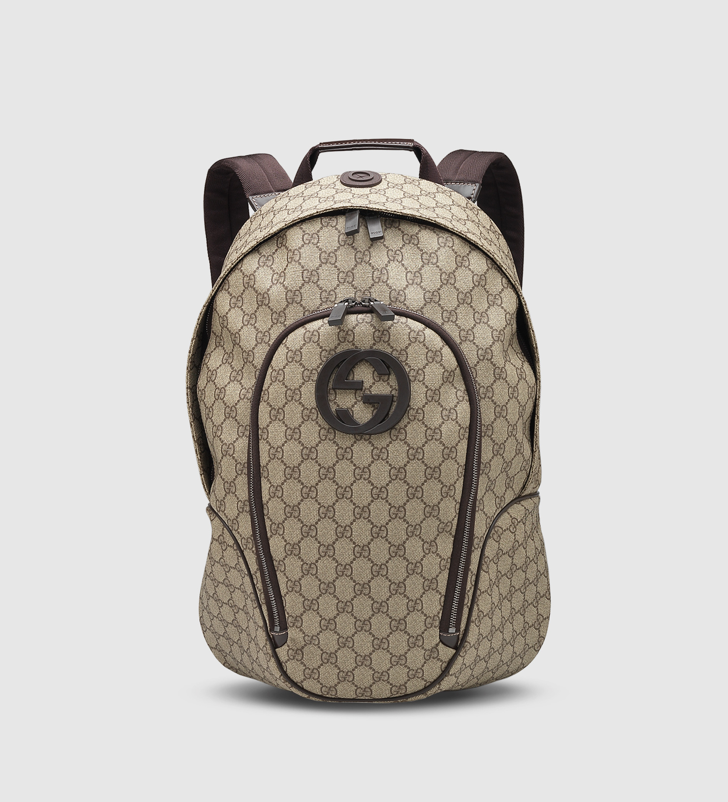 6d61b22791a Lyst - Gucci Gg Supreme Canvas Interlocking G Backpack in Natural