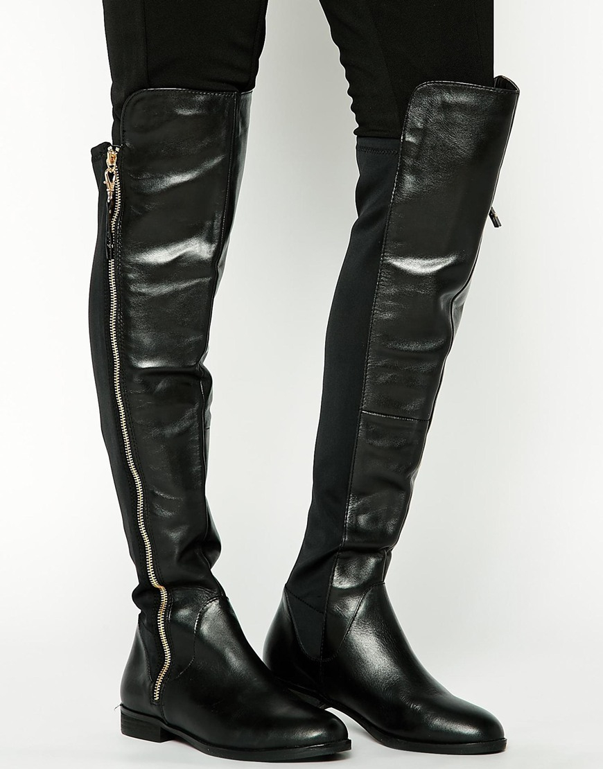 0c524ff3eae Lyst - ALDO Uliawen Over The Knee Flat Riding Boots in Black