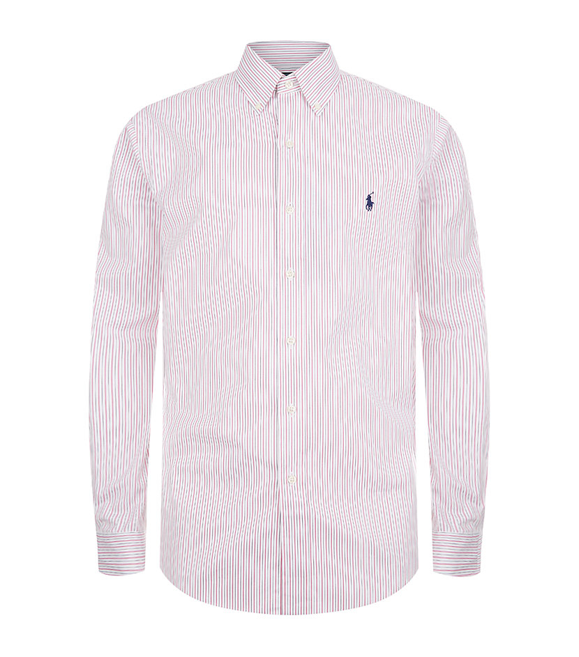 Polo ralph lauren custom fit fine stripe dress shirt in for Custom fit dress shirts