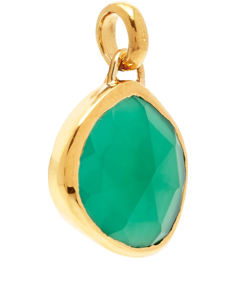 Gold Siren Pendant Green Onyx Monica Vinader MyKk9q
