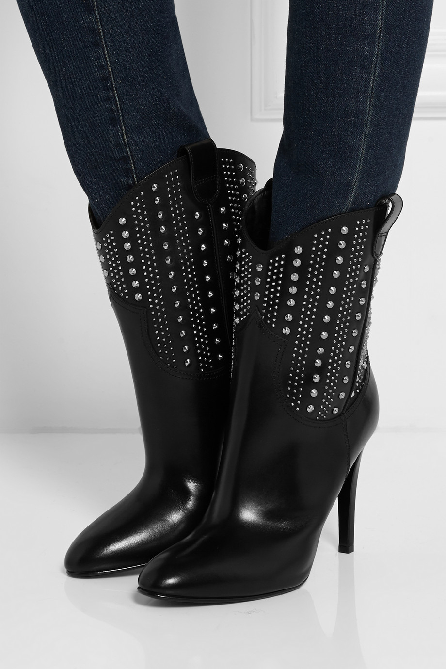 Saint Laurent Debbie 100 Studded Ankle Boots cheap store free shipping exclusive sast sale online t9JykV