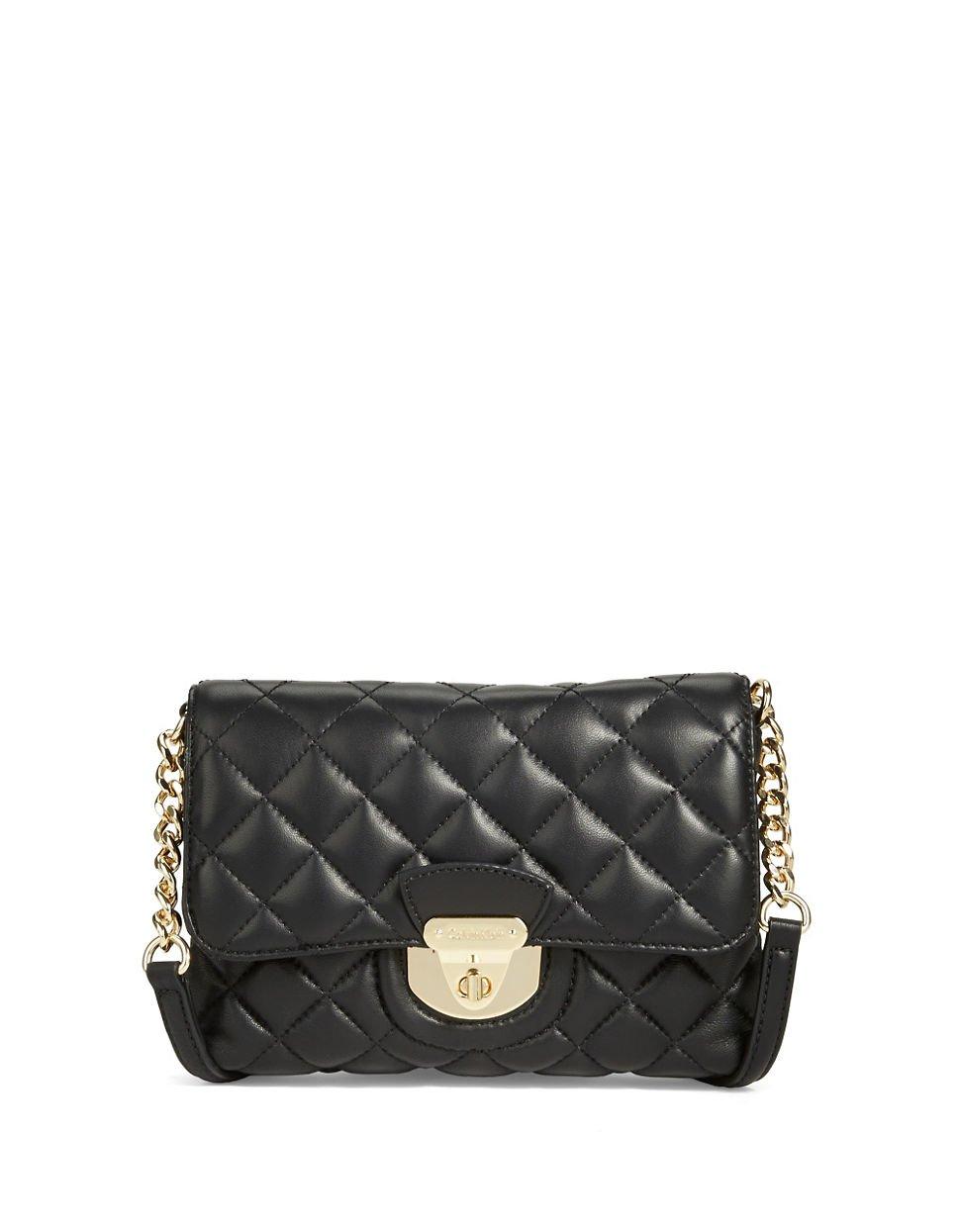 Calvin klein Quilted Crossbody Bag in Black | Lyst : quilted crossbody bags - Adamdwight.com