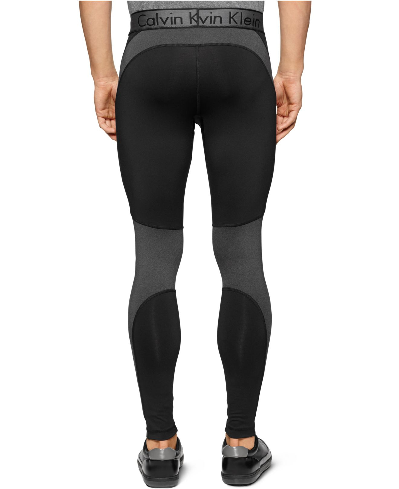 a808508ce48426 Calvin Klein Performance Stretch Compression Pants in Black for Men ...