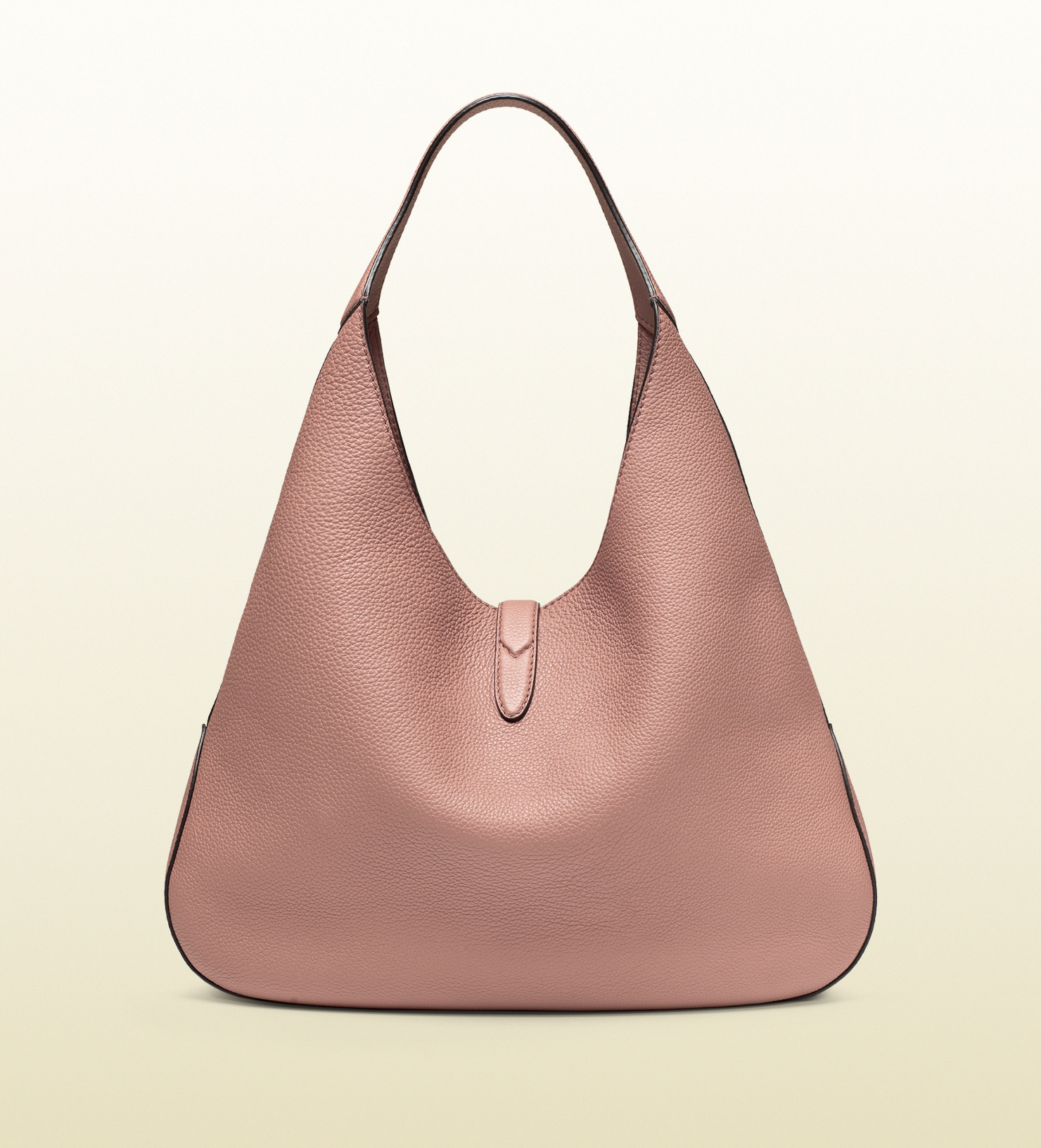 5b00a77a11c9 Gucci Jackie Soft Leather Hobo in Pink - Lyst
