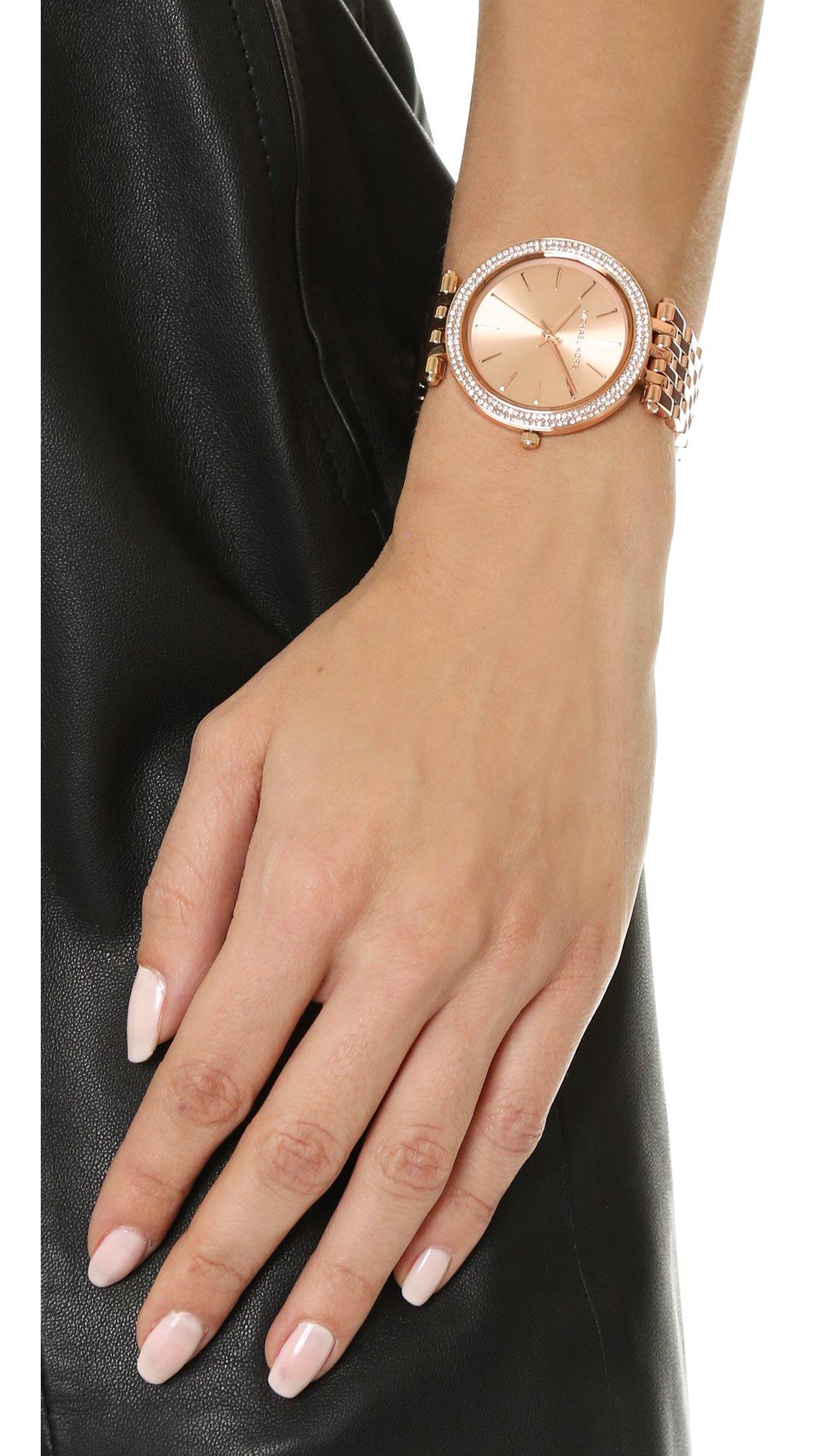 f273058782f6 Lyst - Michael Kors Darci Watch in Pink