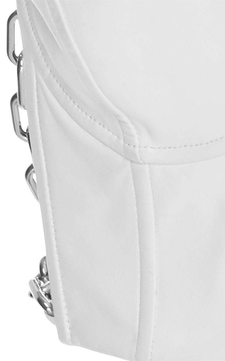 White lambskin apron - Gallery
