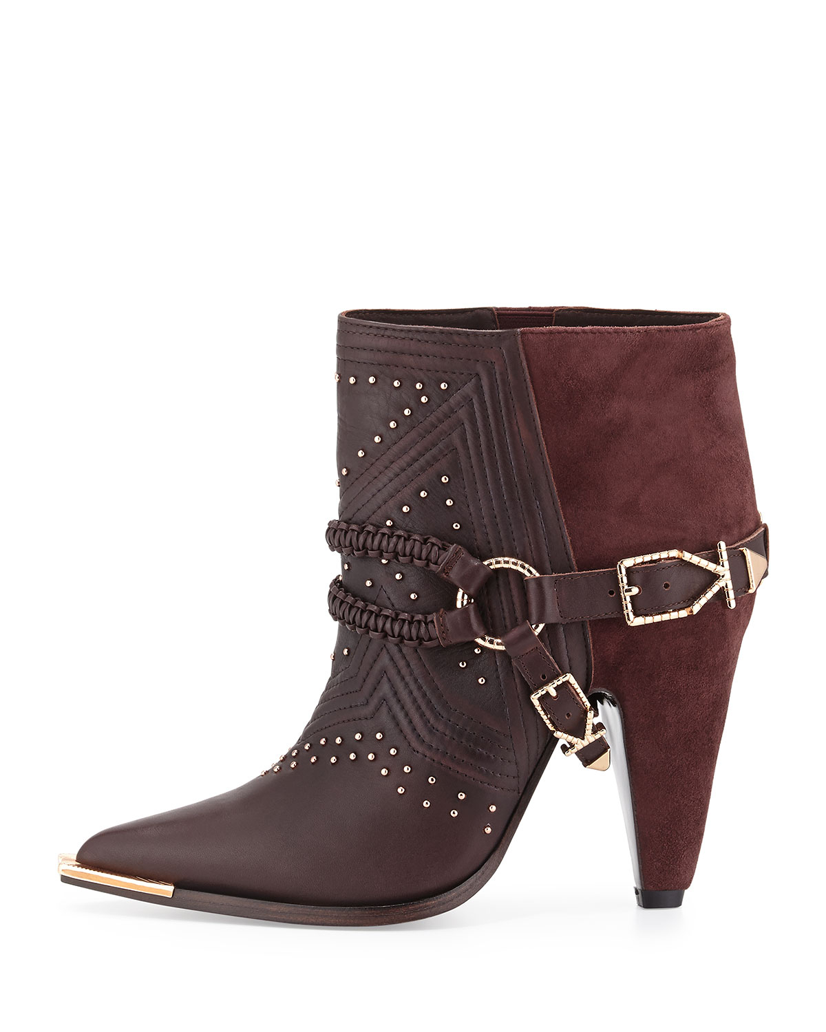Ivy Kirzhner Spurs Harness Leather Ankle Boot In Purple Lyst