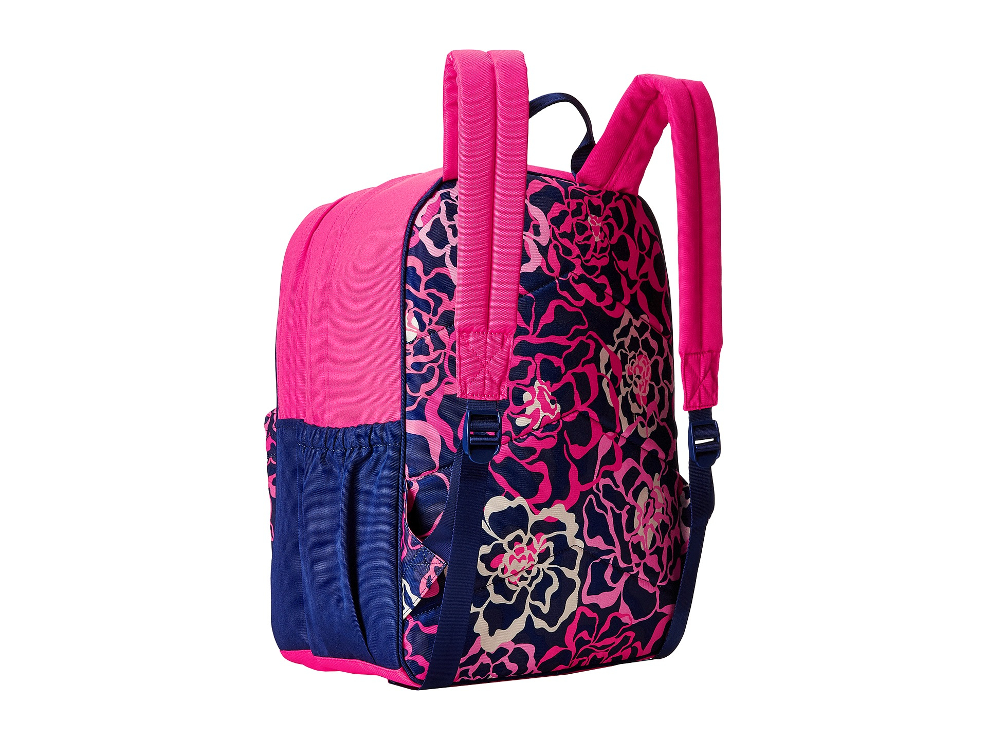 5f1085bb233d Lyst - Vera Bradley Large Color Block Backpack in Pink