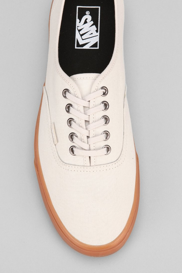 b530b6a53bfd Lyst - Vans Authentic Gum-Sole Sneaker in Natural for Men