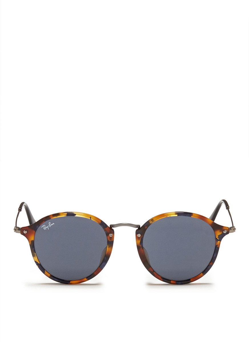 Ray Ban Wireframe Glasses : Ray-ban Tortoiseshell Acetate Wire Temple Round Frame ...