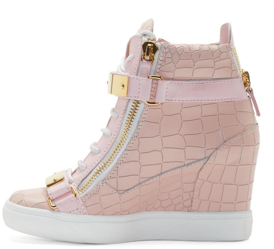 Giuseppe Zanotti Pink Lorenz High_top Wedge Sneakers in ...