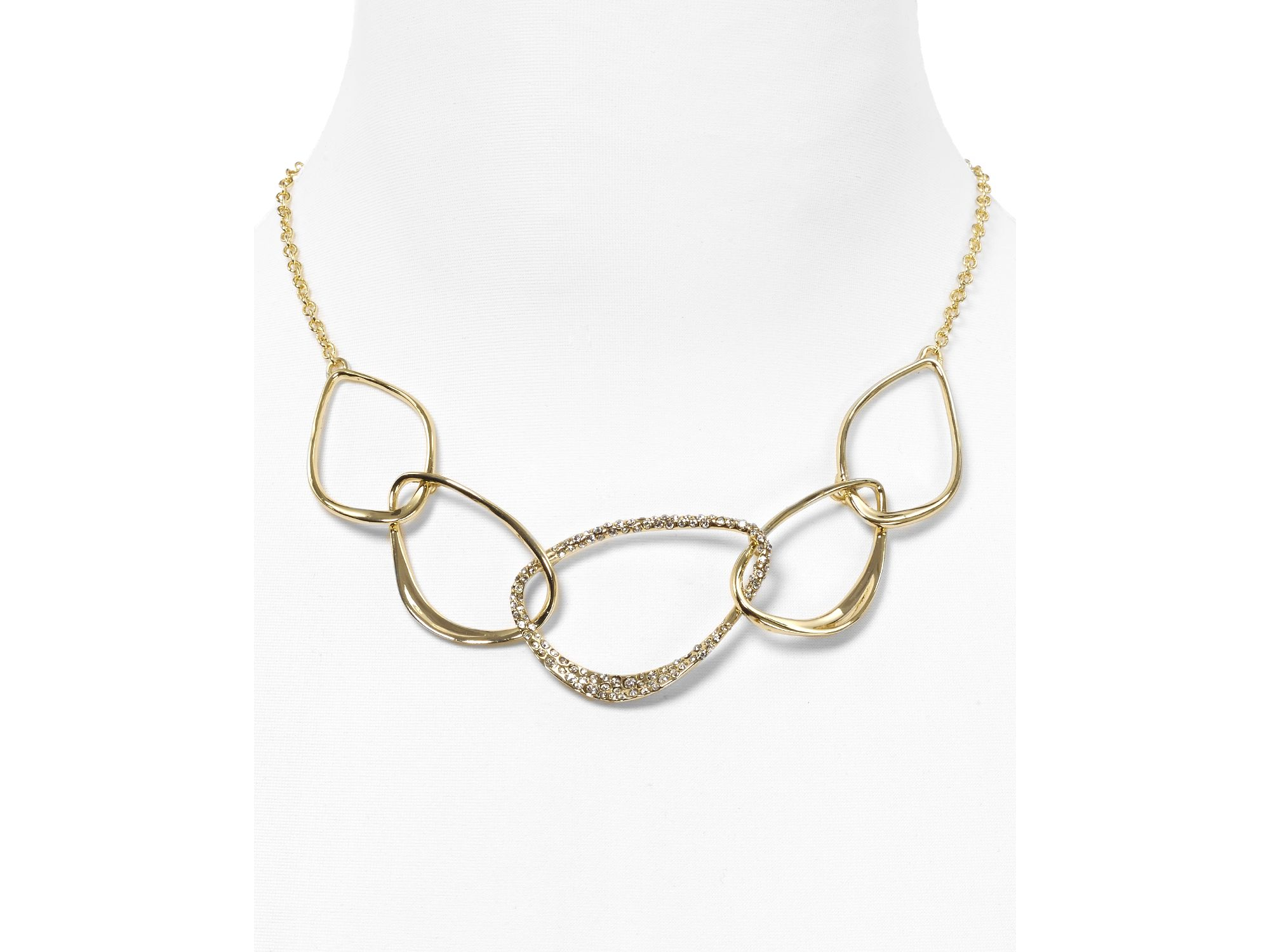 product gold alexis bittar collar reversible necklace draping chain shop