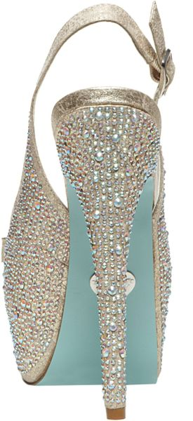 Betsey Johnson Blue By Toast Evening Platform Pumps In