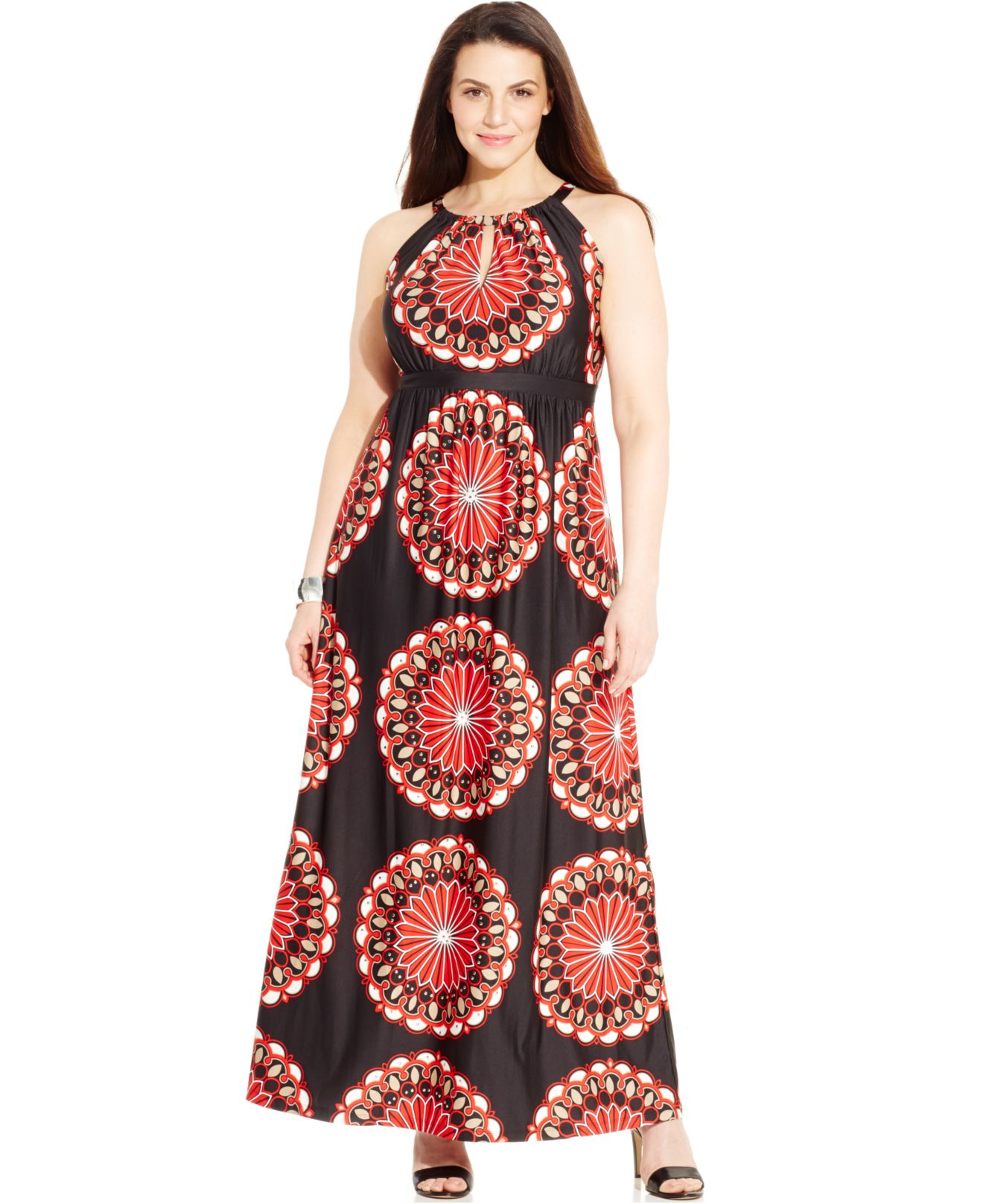 11ca588ae25c0 INC International Concepts. Women s Plus Size Printed Keyhole Maxi Dress