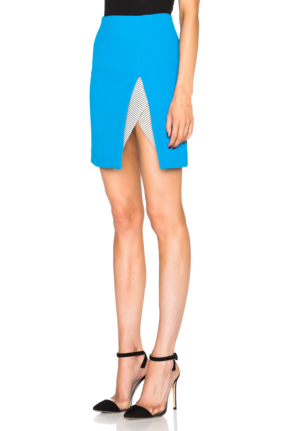 Christopher esber Contoured Slit Mini Skirt in Blue | Lyst