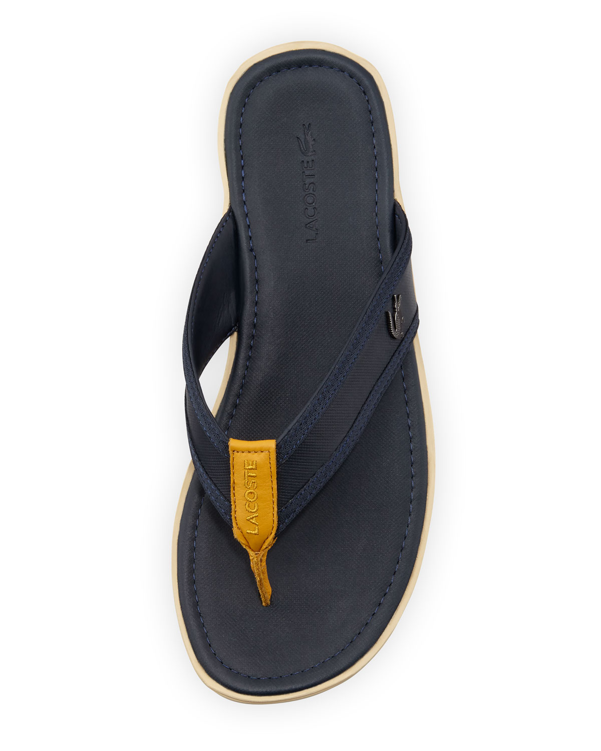 de57a05a3199bd Lyst - Lacoste Carros Mens Thong Sandal in Yellow for Men