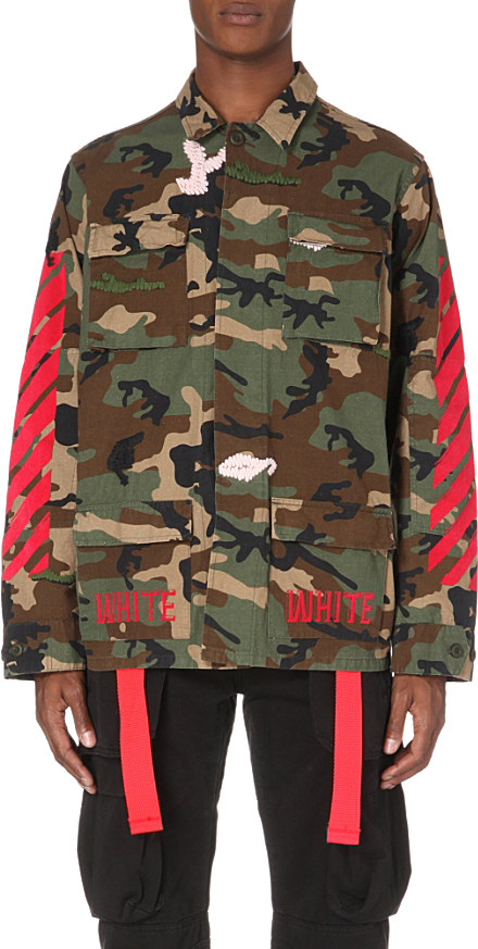 Off White C O Virgil Abloh Camouflage Sport Jacket In