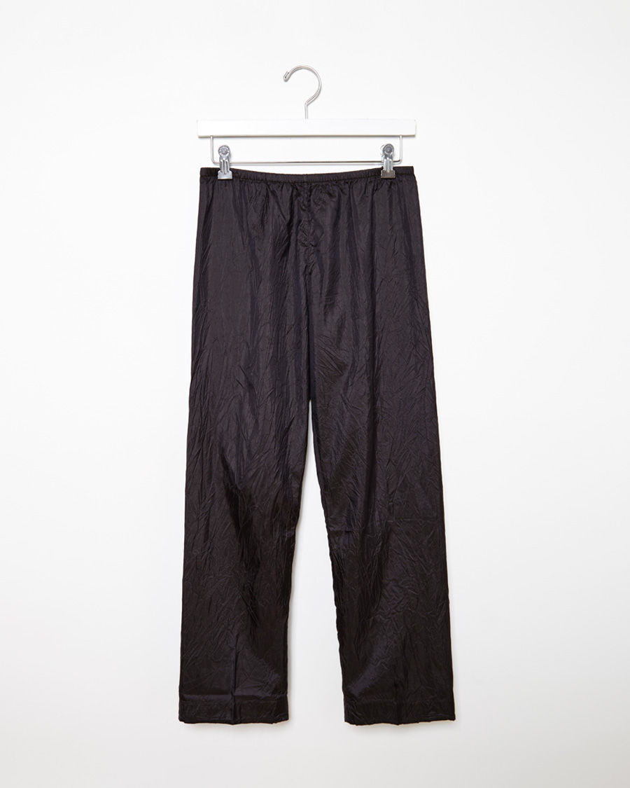 Dosa Silk Pajama Pants in Black
