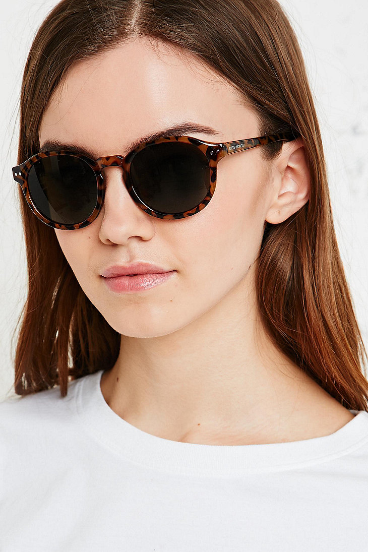091f25a10dd Cheap Monday Circle Sunglasses in Tortoiseshell in Brown - Lyst