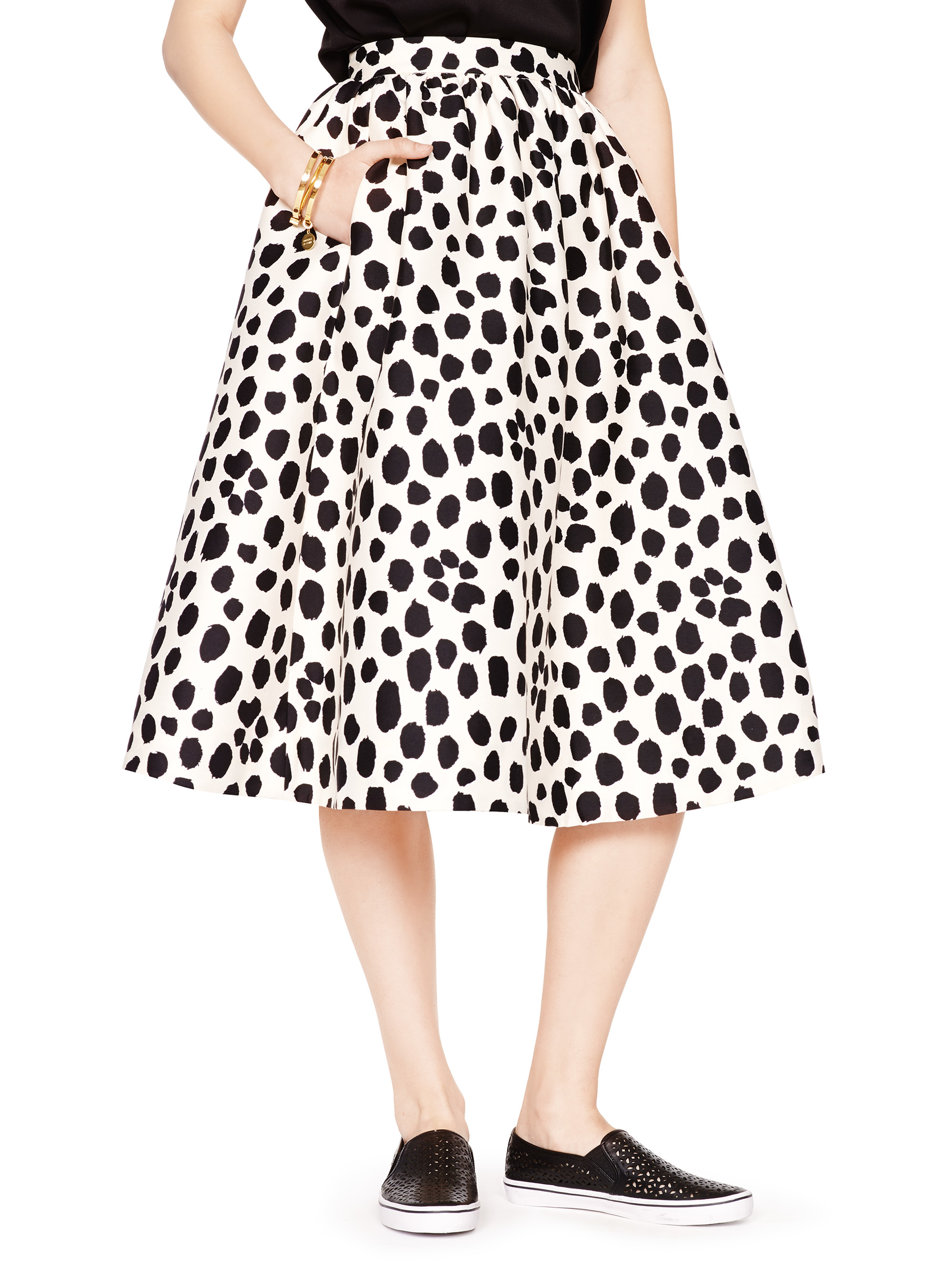 c098d294d4 Kate Spade Madison Ave. Collection Wild Dots Tansy Skirt in Pink - Lyst