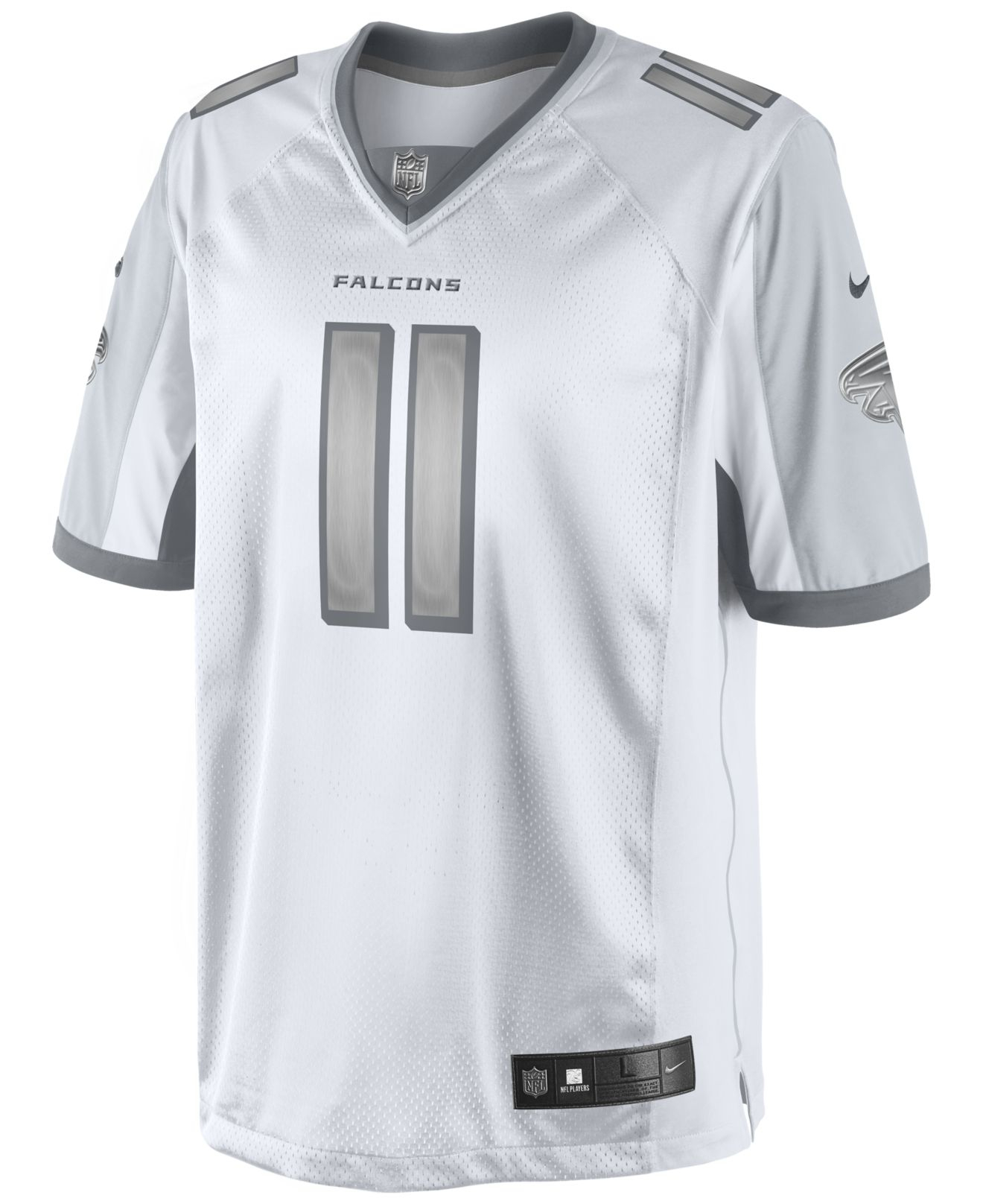 0486e2886 ... norway lyst nike mens julio jones atlanta falcons platinum jersey in  e8171 36f72